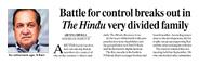 इंडियन एक्सप्रेस में 'द हिंदू' के बारे में प्रकाशित खबर