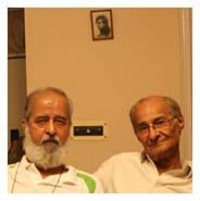 मंसूर सईद (दाएं) और सुहेल हाशमी.