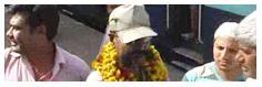 नरेंद्र का इटावा में स्वागत-सत्कार