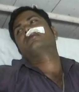 अस्पताल में भर्ती पीड़ित पत्रकार