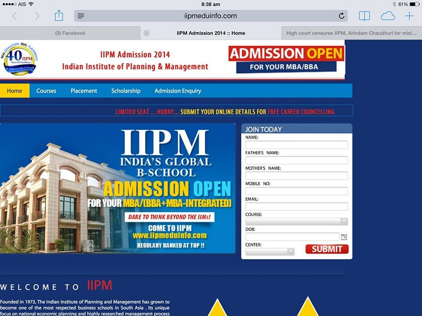 IIPM screen grab